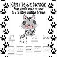 Charlie Anderson Free Book Companion PDF -- free writing frame and work page with answer key to accompany the story. Rebus Books, Creative Writing, Free Books, Comics, Narrative Poetry, Cartoons, Comic, Comics And Cartoons, Comic Books