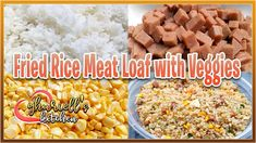 Fried Rice Meat Loaf with Veggies Easy Recipes, Easy Meals, Meat Loaf, Fried Rice, Fries, Veggies, Cooking, Breakfast, Food