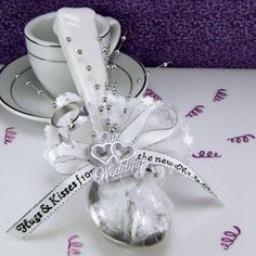 Hershey Kisses favor wrapped in all white tulle. See more Hershey ...