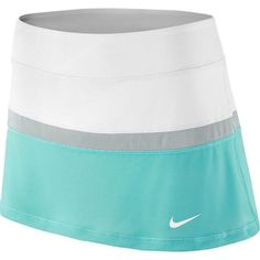 Look sleek. With its stylish design, sweat-wicking Dri-FIT fabric and built-in shorts for storing balls, this women's Nike Court skort brings both finesse and power to the court. Golf Attire, Golf Outfit, Nike Sportswear, White Skort, Tennis Skort, Nike Tennis, Nike Golf, Aqua, Golf Wear