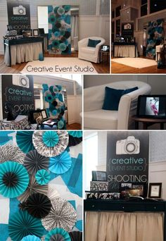 Club 1000 - Kansas City Wedding Venue - Crafty Wedding Inspiration {www.creativeeventstudio.com}, Aqua, Black and white decor ideas