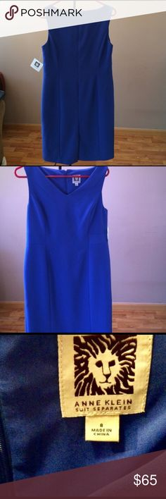 Anne Klein Deep Blue Sheath dress New without tags. Never worn, thought I would keep which is why I removed tags—offers and trades welcomed! Anne Klein Dresses Midi