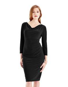 $40 - CHAPS Solid Jersey Dress - BLACK http://1tagdeals.com/fashion/shop/chaps-solid-jersey-dress-black-medium/