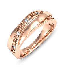 Alliance or rose diamant  Hina