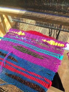 CENTERING WITH FIBER: Learning saori weaving and rigid heddle loom weaving