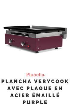 Plancha Verycook avec plaque en acier émaillé purple Plaque, Storage, Furniture, Home Decor, Planks, Steel, Kitchens, Enamels, Purse Storage