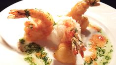 Mancy's Bluewater Chef's Feature  #mancysbluewaterchefsfeature Shrimp Tempura sticky rice, sweet chili sauce, cilantro oil...  #mancysbluewatergrill