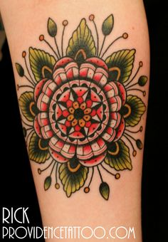 #flower #tattoo by Rick at #providencetattoo