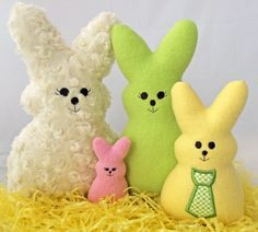 In the Hoop Bunny Softies Machine Embroidery Design Files created by EmbroideryGarden.com