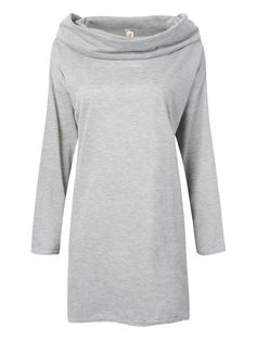 Sale 14% (15.58$) - Casual Loose Sport Turtleneck Pullover T-Shirt For Women