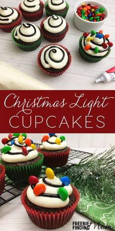 Why do Christmas cookies get all the attention during the holidays? Its about time we welcome in more Christmas desserts like this fun Christmas cupcake idea. Here youll learn how to quickly and easily transform a chocolate cupcake mix into Christmas Li Holiday Cupcakes, Holiday Desserts, Holiday Baking, Holiday Recipes, Christmas Cupcakes Decoration, Winter Cupcakes, Holiday Foods, Easter Desserts, Xmas Decorations