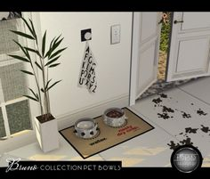 Bruno Collection Pet Bowls by for The Sims 4 Play Sims 4, Sims 3, Sims 4 Cc Furniture Living Rooms, Sims 4 Pets, Muebles Sims 4 Cc, The Sims 4 Packs, Sims 4 Clutter, The Sims 4 Download, Sims 4 Build