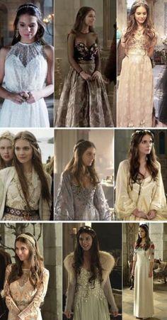 Love their hair & wardrobe on Reign Moda Medieval, Medieval Dress, Medieval Fashion, Reign Dresses, Royal Dresses, Mary Stuart, Reign Fashion, Fashion Tv, Lady Mary