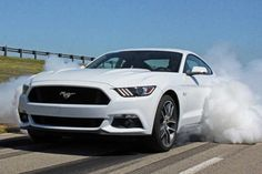 New Ford Mustang on its way to Europe.
