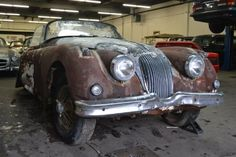 Used 1959 Jaguar DHC Stock # 20764 in Astoria, NY at Gullwing Motor Cars, NY's premier pre-owned luxury car dealership. Come test drive a Jaguar today! Vintage Cars, Antique Cars, Luxury Car Dealership, Jaguar Xk, Car Buyer, Abandoned Cars, E Type, Barn Finds, Motor Car