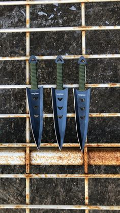 6 PC Ninja Tactical Combat Naruto Kunai Throwing Knife Set w/ Sheath Hunting Pretty Knives, Cool Knives, Knives And Swords, Ninja Weapons, Weapons Guns, Zombie Weapons, Hidden Weapons, Knife Throwing, Combat Knives