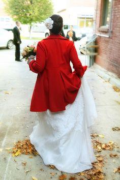 red jacket #rockmywinterwedding @Rock My Wedding