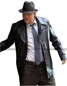 Harvey Bullock Gotham Donal Logue Black Leather Jacket Trench Coat at discounted price. Available in genuine leather at discounted price. Bullock Gotham, Harvey Bullock, Shades Of Black, Winter Coat, Trench, Black Leather, Leather Jacket, Detective, Jackets