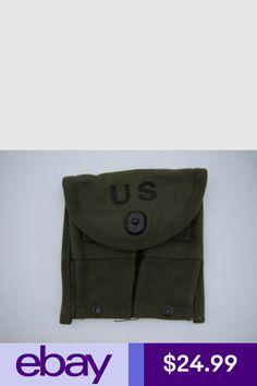 Original Us Gi Wwii M1 Carbine Khaki Stock Pouch 1943 Dated Used