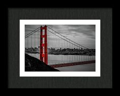 Golden Gate Bridge Framed Print featuring the photograph Touch Of Red by Marnie Patchett