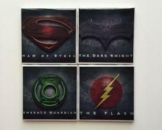 DC Comic-Superman-The Flash-Batman-The Green by HashtagCoasters