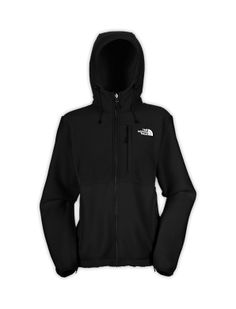 Black or grey northface with hood.