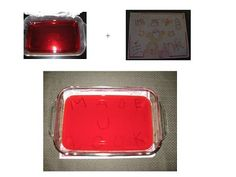For a great lesson on light and color, use red jello and crayons to write and reveal a decoder message.