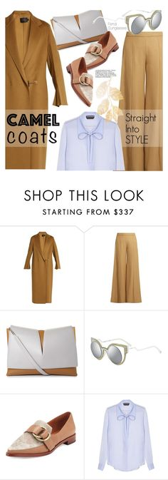 """""""Wear a Camel Coat!"""" by smartbuyglasses-uk ❤ liked on Polyvore featuring Calvin Klein Collection, Acne Studios, Jil Sander, Fendi, 10 Crosby Derek Lam, Rochas, camelcoat and widelegtruosers"""