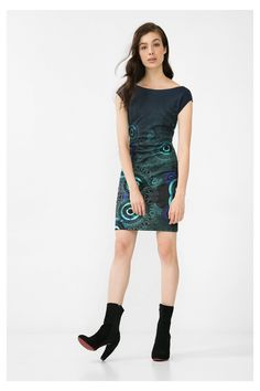 Desigual tmavě modré šaty Pichi Elko Rep - Dámské Šaty ♥ Different. 4d36e85519