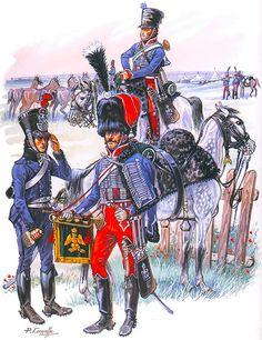 Napoleon's Guards of Honour, 1813-14: Groom ('Tartar'), Trumpeter, 4e Régiment, Trumpeter, 2e Régiment