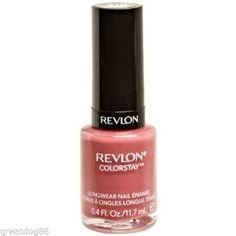 Revlon Colorstay Nail Polish # 310 Vintage Rose Free Shipping Longwear Enamel