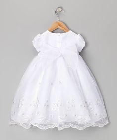 Lida White Eyelet Bow Dress Set - Infant, Toddler & Girls | Dress ...