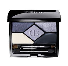 Beauté : Palette fards à paupières maquillage yeux 5 Couleurs Designer de Dior bleu http://www.vogue.fr/beaute/buzz-du-jour/diaporama/le-regard-backstage-selon-dior/20814#diorshow-mascara-de-dior