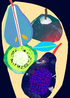 A colourful illustration of fruit Tom Abbiss Smith.