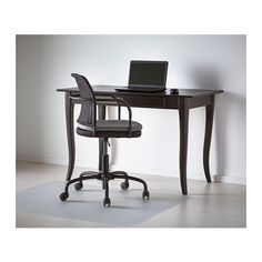 LEKSVIK Desk IKEA Solid wood is a durable natural material. Drawer stops prevent the drawers from being pulled out too far. Ikea Wood Desk, Ikea Chair, Ikea Solid Wood, Ikea Leksvik, World Office, Ikea Home Office, Zen Room, Bedroom Desk, Desk With Drawers