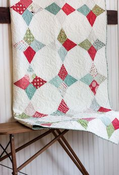 Odds and Ends Periwinkle Twin Size Quilt by CottonBerryQuilts