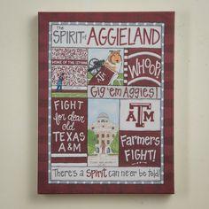Glory Haus - Texas A&M Spirit Canvas 12x16