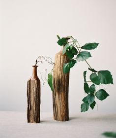 greenery centerpieces via oncewed.com