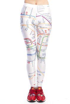 Yum Yum Clothing London Tube Map Printed Leggings