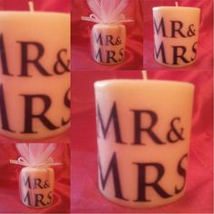Mr & Mrs candle favors / wedding favors / by SassyCandleFavors, $3.95