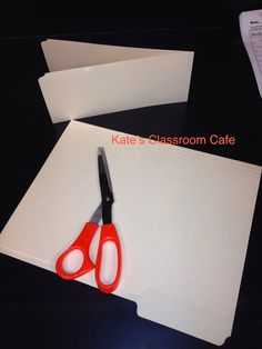 Kate's Science Classroom Cafe: Organize Notebooks With File Folder Bookmarks