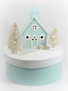 Aqua Christmas Cottage