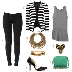 Great look from the work day to a night out! That blazer is fierce!! Love the look, My Style Diaries!