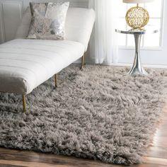 nuLOOM Hand-woven Flokati Wool Shag Rug (3' x 5')   $93.49  www.overstock.com