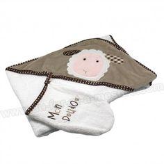 Adorable sortie de bain pour envelopper de douceur Bébé.   https://www.au-fur-et-a-mesure.com/415-sortie-de-bain-petit-mouton-les-chatounets.html