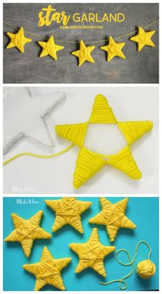 Cute star garland - A girl and a glue gun