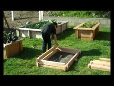 The groEasy redwood raised planter kit. no hardware required to assemble http://store.groorganic.com/groeasyplanterkit.aspx