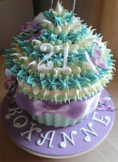 Giant Cupcake Cake 21st Birthday