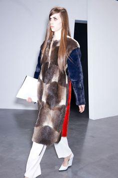 Céline muskrat-and-mink coat