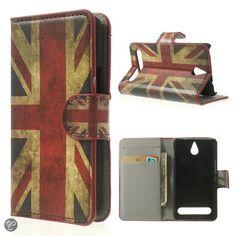 Mesh - Sony Xperia E1 - Wallet Case Hoesje Britse Vlag